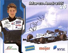 2008 MARCO ANDRETTI signed INDIANAPOLIS 500 MEIJER PHOTO CARD POSTCARD INDY CAR