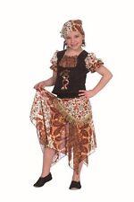 Zigeuner Kleid braun Kinder Gypsy Piratin Zigeunerin Kostüm Karneval Fasching