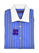 Ralph Lauren Purple Label Blue Striped Dress Shirt 15 New $450