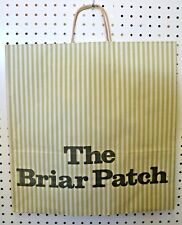 LOT 25 Vintage GREEN Paper Shopping Bag BRIAR PATCH 18 x 18 Wrapped Handle NEW