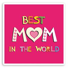 2 x 10cm Best Mom Vinyl Stickers - Mum Mothers Day Fun Laptop Sticker #30059