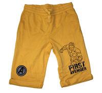 Marvel Avengers Infinity war Captain America First AVENGER boys shorts --Yellow