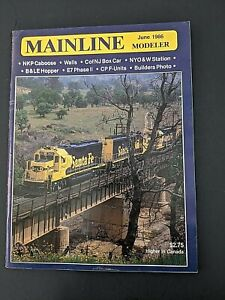 June 1986 Mainline Modeler Magazine