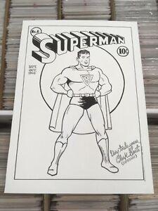 "OA Original art John Sewell Superman Cover Recreation DC Comics 16.75"" x 23"""