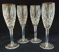 "(1) Signed Waterford Crystal Araglin 8 1/2"" Champagne Flute"