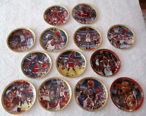 """LARGE LOT OF13- """"MICHAEL JORDAN COLLECTION""""  COLLECTORS PLATE. 0292"""
