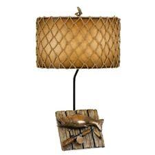 "Cal Lighting Fishing 31"" Height Resin Table Lamp, Cast Bronze - BO-2664TB"