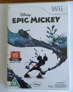 Disney EPIC MICKEY Wii Game PAL Universal with Case & Manual Very good condition