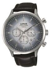 Lorus Gents Chronograph Grey Dial Watch Black Croc Skin Effect Strap RT351FX9
