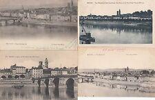 Lot 4 cartes postales anciennes MACON vue générale 2