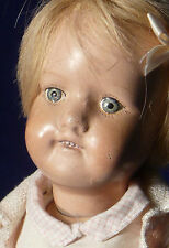 """Sweet 16"""" Antique SCHOENHUT All Wood Jointed DOLLY FACE Girl Original Clothes"""