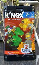 K 'nex Battle Zone ~ 2 duelo Dragones ~ 167 piezas ~ Knex ~! totalmente Nuevo!