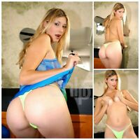 Crystal Ray 4x6 (Set of 3 photos) posed In Green Thong