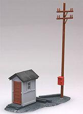 Atlas Telegraph Pole & Shanty Kit #705 -  Model Trains HO accessories.