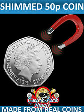 Shimmed Steel Core 50 Pence Coin - Made from a REAL Coin! 50p Steel Shimmed Coin
