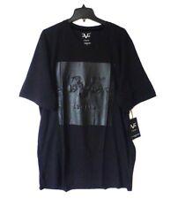 Versace Italia V 19.69 Mens Size 2XL Black On Black Logo V Neck T Shirt New