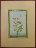Hand Painted Tiny Detailed Flower Border Paper Intricate Miniature Painting Art