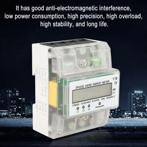 Electric Energy Meter DIN Rail Wattmeter Energy Meter Power Meter 3 Phase 4 Wire