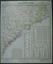 1883 LETTS MAP ~ UNITED STATES EASTERN NORTH CAROLINA POPULATION EXPORTS