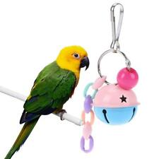 Pet Parrot Hanging Double-Color Bell Ball Foot Toy Interactive Bird Activity Toy