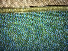"Vintage TRUE Mid Century CARPET BLUE & GREEN Carpet Rug 10"" Runner NEW OLD STOCK"