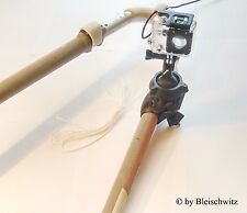 FREAK-MOUNT: 2nd-GEN. GoPro and Actionpro mast / boom mount, bike, windsurf