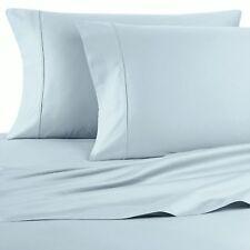 WAMSUTTA 1000 Thread Dream Zone SKY BLUE Sateen Standard Pillowcases, 2 CT, NEW