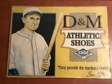 Vintage Ty Cobb Poster MLB Baseball Advertising D&M Athletic Shoes poster card