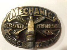 Vintage 1982 Mechanic Spark Plug Belt Buckle