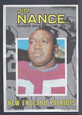 1971 Topps Pin Ups Poster Insert #15 Jim Nance Running Back New England Patriots