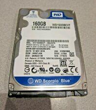 "160GB WD Scorpio Blue WD1600BEVT-00A23T0 5400RPM 2.5"" SATA Laptop HDD"