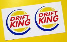 DRIFT KING stickers decals JDM JAP Civic TYPE R Skyline Integra Subaru