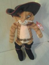 Ty Beanie Baby - PUSS IN BOOTS the Cat- Shrek DVD Exclusive MINT -RETIRED