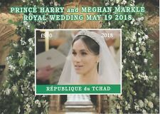 Chad 7598 - 2018 HARRY & MEGHAN WEDDING  imperf deluxe sheet  unmounted mint