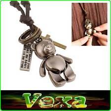 Collar De Oso Koala Con Encanto Colgante Cruz Anillos placa Surf Correa De Cuero NK04