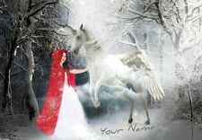 Personalised Fairy Tale/Girl/Unicorn/Fantasy Birthday Card