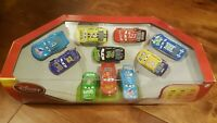 DISNEY STORE PIXAR CARS PISTON CUP RACERS 10 PIECE SET 1:43 SAVE 6% GMC