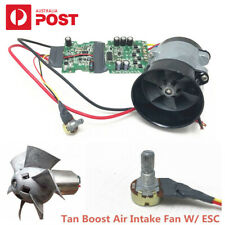 12V Car Electric Turbine Power Turbo Charger Tan Boost Air Intake Fan w/ ESC AU