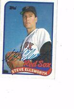 1989 Topps Steve Ellsworth Boston Red Sox Authentic Autograph COA