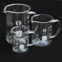 100-1000ML Cylinder Measuring Borosilicate glassware Chemistry Beaker Glass Lab