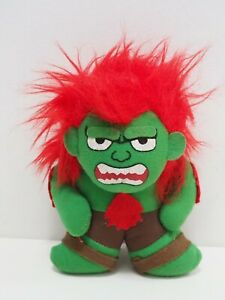 "Street Fighter II BLANKA Red Capcom Plush 7"" Stuffed Toy Doll Japan Famicom NES"