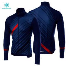 Cycling Winter Sports Men's Fleece Jerseys Bike Thermal Team Jackets Uniform Top