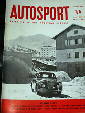 Autosport March 8th 1957 *Sestriere Rally*