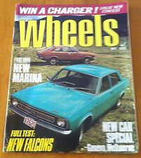 Wheels May 1972 Falcon XA  feature - XR ,Range Rover