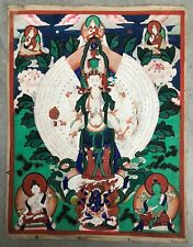 A beautiful 19th Century Sino-Tibetan or Mongolian Thangka of AVALOKITESHVARA.