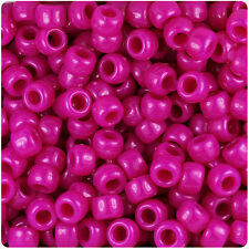 500 Mulberry Opaque 9x6mm Barrel Pony Beads Made in the USA byThe Beadery