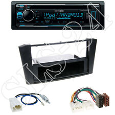 Kenwood KDC300UV CD/USB Radio + Toyota Avensis 02/03-01/09 Blende black+ISO Adap