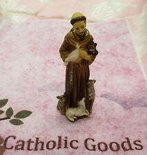 "St. Saint Francis of Assisi (Solid Resin) Statue, 4"" tall"