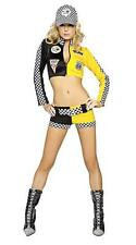 NEW WOMENS RACE GIRL FORMULA 1 NASCAR F1 GRAND PRIX ROLE PLAY FANCY DRESS