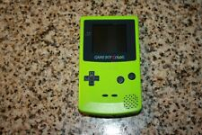 Nintendo Gameboy Color Kiwi Lime Green Handheld System Authentic  works great.